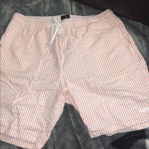 Obey seersucker shorts